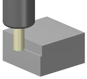 エンドミルによる側面削り